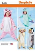 1032 Simplicity Pattern: Toddlers' Animal Costumes